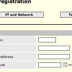 sample employee registration form